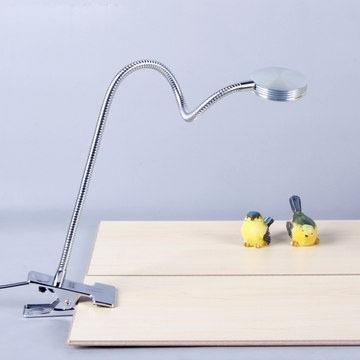 Petite lampe LED à LED lampe de table corps à col de cygne bouton bouton de pression
