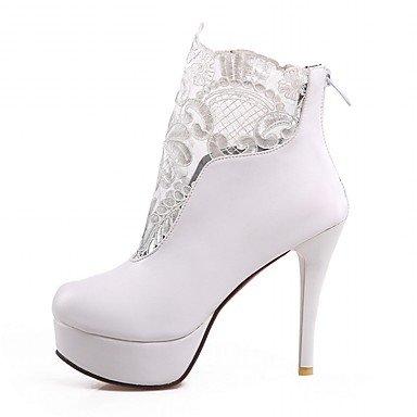 Moda Donna Sandali Sexy donna tacchi Primavera / Autunno / WinterHeels / Piattaforma / Cowboy / Western Stivali / Snow Boots White