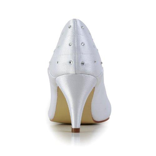 Jia Jia Wedding 5949410 chaussures de mariée mariage Escarpins pour femme Blanc