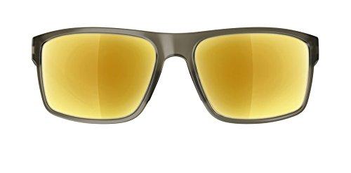 Adidas Whipstart Sonnenbrille, Olivfarben matt, mitGoldfarben spiegelnden Gläsern