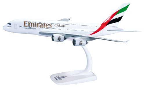 Herpa 607018 - Snap-Fit: Emirates Airbus A380-800 Snap Fit