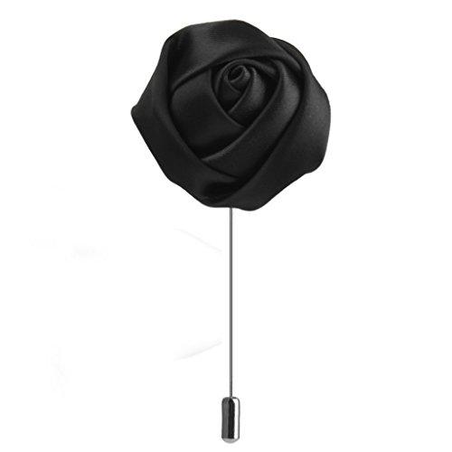 Rose -Blume förmig Brosche Ansteckblume Brosche Hochzeit Dekor Zubehör für Unisex - Schwarz