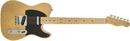 Fender 0141502306Klassische E-Gitarre, Player Baja Telecaster, mit Griffbrett aus Ahorn - Schwarz Volle Größe beige (blonde)