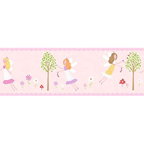 Fun4Walls Fairy Garden - Bordo adesivo da parete, motivo: giardino delle fate