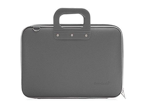 Bombata Mediobombata Classic Aktentasche für 13 Zoll Laptop, Grau - Grau Laptop Attache