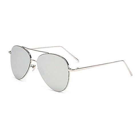 HMILYDYK Men Women Polarized Aviator Sunglasses Flash Mirrored Color Lens Metal Frame UV400 Eyewear with Case