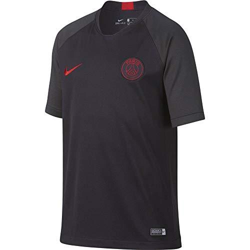Nike PSG Y NK BRT Strk Top SS Short Sleeve Unisexe pour Enfant L Gris/Rouge (Oil Grey/Oil Grey/University Red)