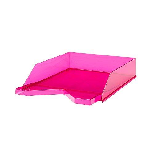 Jalema 7435021Vaschette Portacorrispondenza Head-Tail: trasparente to: Silky Touch in polistirene, 10pezzi, colore: rosa trasparente