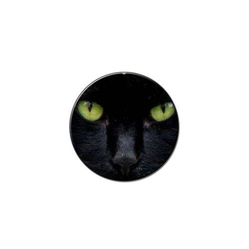 Schwarz Katze Augen–Halloween Metall Revers Hat Shirt Tasche -