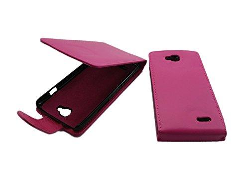 handy-point Klapphülle Klapptasche Tasche Hülle mit Fach für EC-Karte Schutzhülle Flip Case für LG Optimus L90 D405 in Pink (Pink - Hülle für LG Optimus L90)