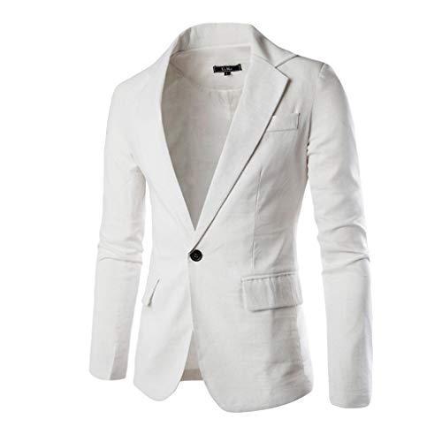 Longra Herren Business Blazer Feste Sakko Outwear Stoff Blazer Jackett klassisch jacken -