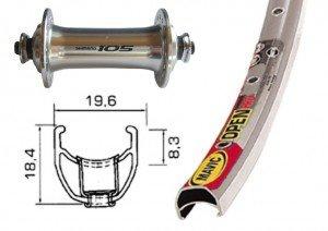 Rennrad Laufradsatz Mavic V-Rad / H-Rad 700C 105 silber QR 32 Loch (Ausführung: vorne)