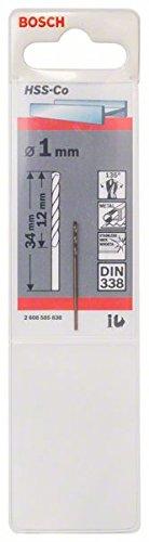 Bosch Professional Metallbohrer HSS-Cobalt (Ø 1 mm)