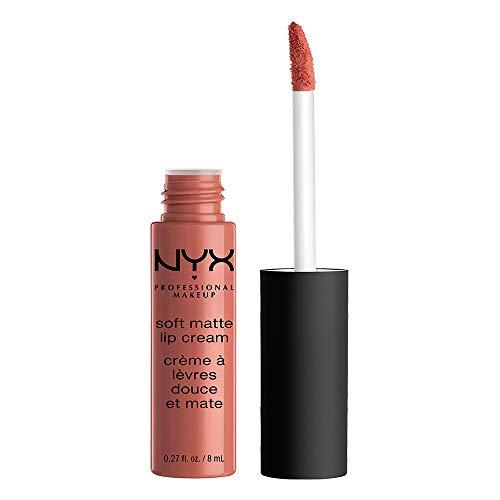 NYX Professional Makeup Rouge à Lèvres Soft Matte Lip Cream, Fini Mat Crémeux, Couleur Ultra-Pigmentée, Tenue Longue Durée, Teinte : Cannes