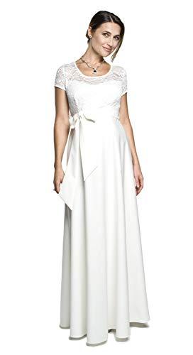 Torelle Damen Umstandskleid Brautkleid für Schwangere, Modell: Natalie, Creme, M