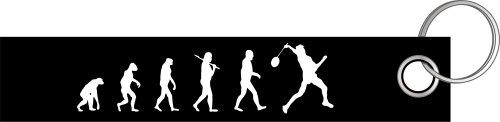 Badminton Spieler Federball Evolution Schlüsselanhänger Schlüsselband Keyholder Lanyard