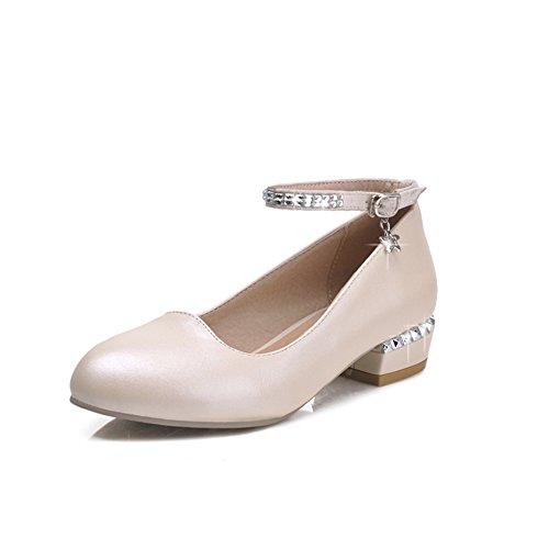 luce dolce e basso in primavera scarpe/Parola TOU Shui diamond ladies fibbia scarpe/Scarpe da lavoro-B Lunghezza piede=24.3CM(9.6Inch)