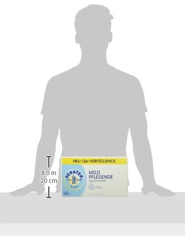 Penaten Baby Mild Pflegende Feuchttücher Vorteilspack, 12 x 56 Tücher (gesamt 672 Tücher) - 5
