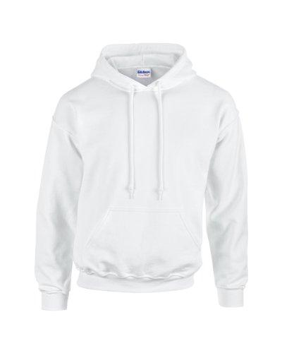 Gildan - Unisex Kapuzenpullover 'Heavy Blend' , White, Gr. M -