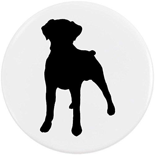 Azeeda 58mm 'Boxer Hund Silhouette' Pin Knopf-Abzeichen (BB00038736) (Boxer Hund Silhouette)