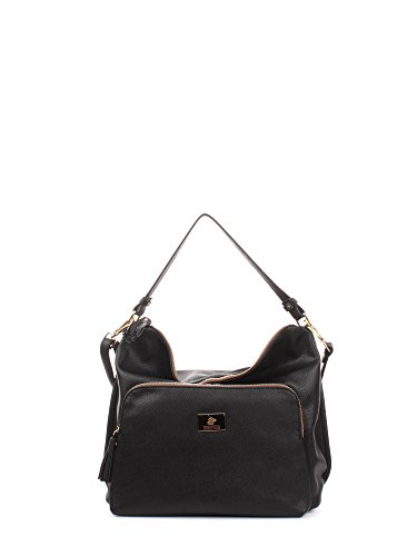 Greenwich Polo Club PG16W13802 Hobo Bag Donna Pelle Nero Nero PZ