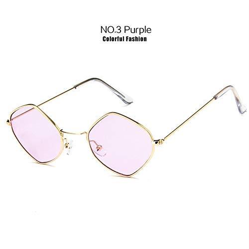 ZHAS High-End-Brille Kleine Sonnenbrille Damen Herren Fashion Ocean Blue Pink Sonnenbrille Retro Metallrahmen Eyewear Personalisierte High-End-Sonnenbrille Pink