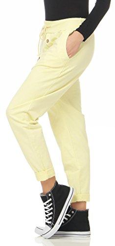 malito Urban Pantaloni Aladin Sbuffo Pantaloni Pump Baggy Yoga 3302 Donna Taglia Unica Giallo