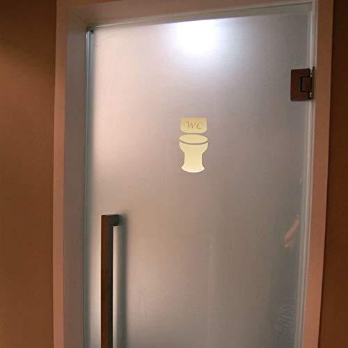 15 X 7,5 Cm Acryl Spiegel Wand Aufkleber Toilette Tür Zeichen/Wc Plaque Dekorative Spiegel 3d Aufkleber Home Indikator Dekoration -