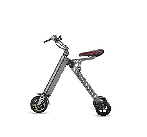 WFTD Bicicleta Eléctrica De Tres Ruedas Portátil, De 8 Pulgadas Plegable Impermeable Triciclo Eléctrico De Control Remoto, 30Km De Resistencia para El Viaje Y La Vida De Ocio