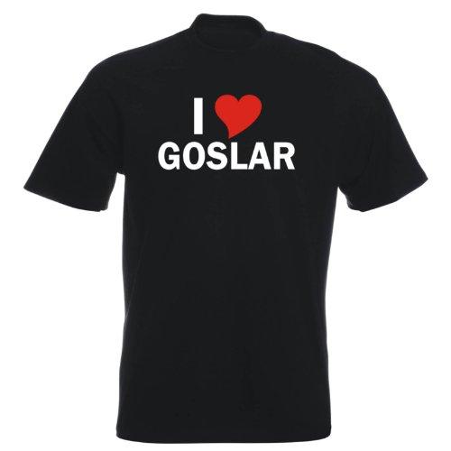 T-Shirt mit Städtenamen - i Love Goslar - Herren - unisex Schwarz