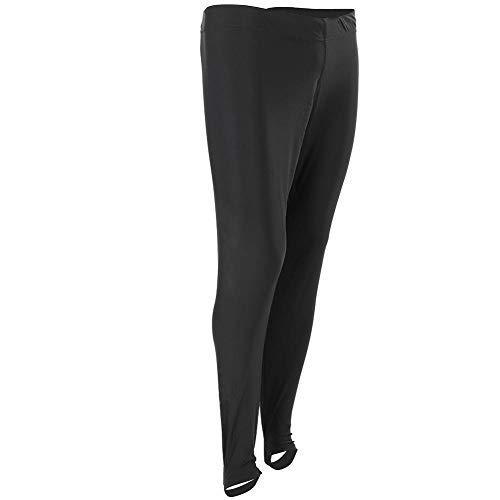 Pantalones de Traje de Baño Largos Buceo Surf Snorkel Pantalones Largos Bañador con Correa de Pie para Mujeres Hombres Competición Natación Negro S/L / 2XL / 3XL(L)