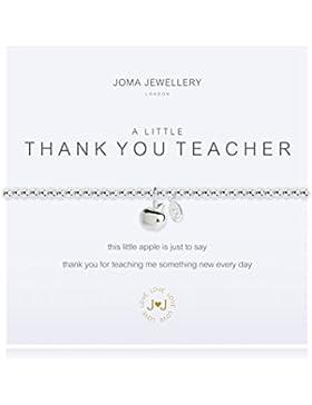 A Little Thank You Teacher Silber Armband von Joma Jewellery