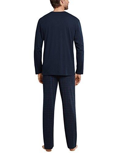 Schiesser Herren Zweiteiliger Schlafanzug Anzug Lang Blau (Dunkelblau 803)