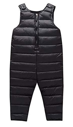 HAPPY CHERRY Unisex Kinder Daunenhose Schneehose Warm Winter Softshell Schneeanzug Overall Reißverschluss Babyhose Jumpsuit