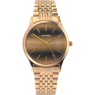 Sekonda Men's Gold Plated Tiger Eye Watch (225474511) Best Price and Cheapest