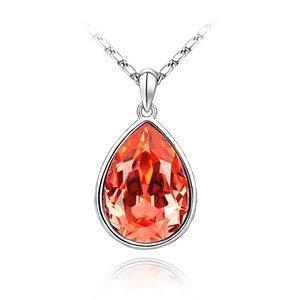Jjlesun collana con ciondolo a goccia di lacrima in acqua con gioielli di cristallo fatti con ziconia crystal for women