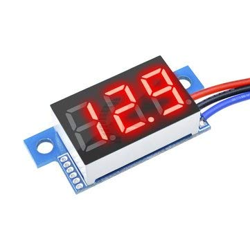 BliliDIY Dc 0-200V 0,36 Pollici Mini Voltmetro Digitale Voltmetro 3 Fili Volt Volt Indicatore Digitale Voltmetro Per Auto -  Rosso