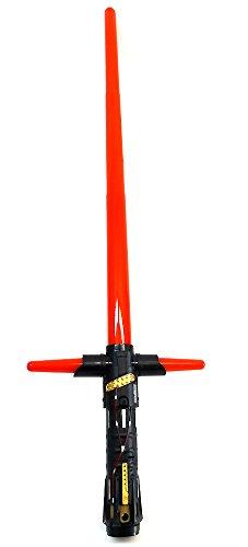 Kylo Ren Set bestehend aus Maske & elektrischem Lichtschwert, FX Laserschwert mit Licht & Sound - 4