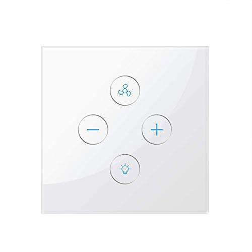 Interruptor de luz WiFi inteligente, MuZhuo Interruptor de luz de Ventilador inteligente...
