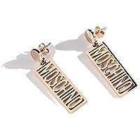 KUNQ Weihnachten/Geschenk/Fashion Rose Gold Geometrische Brief Ohrringe Die Ohrringe Persönlichkeit Übertrieben Studs Temperament Und Zubehör.