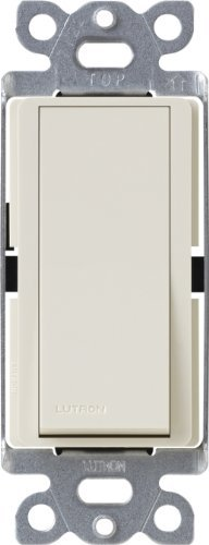 Lutron CA-4PSNL-LA Diva Satin Colors 15-Amp 4-Way Switch with Locator Light, Light Almond by Lutron