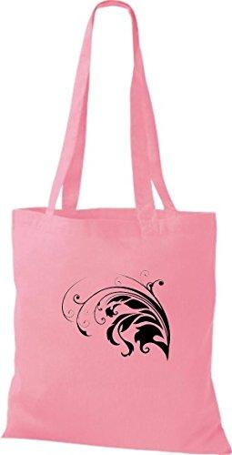 ShirtInStyle Stoffbeutel Flower Ornament Blume Baumwolltasche Beutel, diverse Farbe classic pink