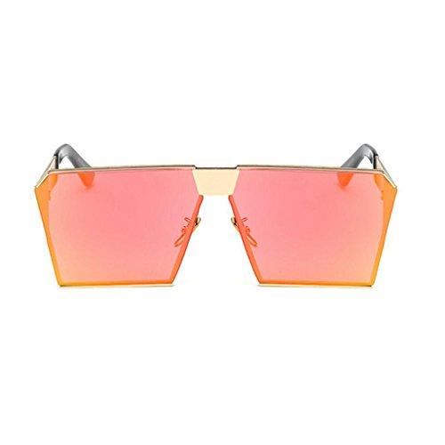 RLJJSH Sonnenbrille Polarisierte Sonnenbrille, Mode Metallrahmen Platz Sonnenbrille Klassische Ton Luxus Aviator Spiegel Objektiv Gläser Reise Sonnenbrille Sonnenbrille