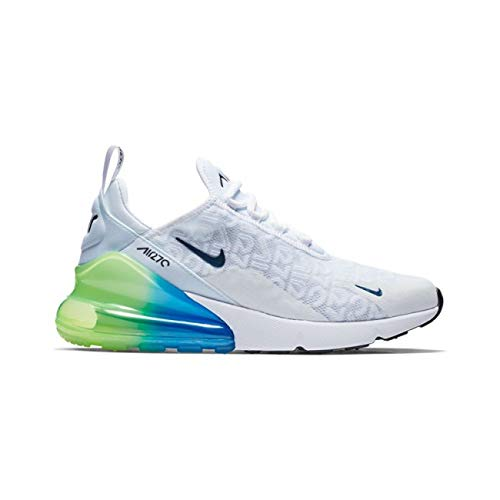 the best attitude 01cce 5463c Nike Air MAX 270 Se, Zapatillas de Atletismo para Hombre, White/Lime Blast