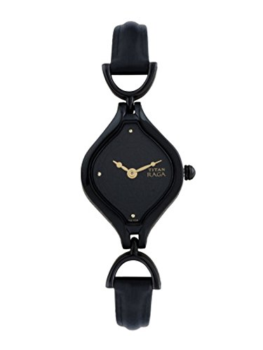 Titan Women's Raga Black Dial Analog Watch