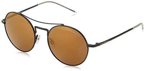 Emporio Armani Herren 0EA2061 Sonnenbrille, Schwarz (Matte Black), 52