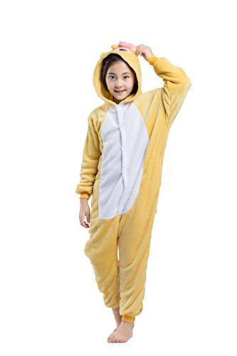 CuteOn Unisex Childrens Tier Pyjamas Onesies - Mädchen Junge Homewear Sleepsuit Cosplay Kostüm Weiblich Affe 140(Vorschlagen Höhe 138-146cm)