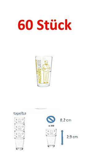 60 Set Saftgläser Wassergläser Wasserglas Trinkglas Gläser Beistellgläser cc 350.350ml Bar Ohne Füllstrich T-disc Carousel