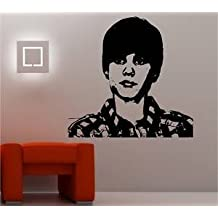 Online Design Justin Bieber adhesivo pared vinilo música Corazón Throb - Azul