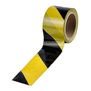 100 m Absperrband Kennband schwarz-gelb Warnband | i8